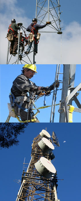 Tower Climbing by Two-Way Radio - Orange County, CA